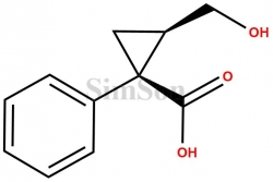 (1S,2R)-2-(Hydroxymethyl)-1-phenylcyclopropanecarboxylic acid