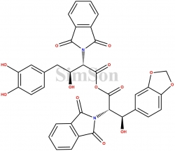 (2S,3R)-3-(benzo[d][1,3]dioxol-5-yl)-2-(1,3-dioxoisoindolin-2-yl)-3-hydroxypropanoic (2S,3S)-4-(3,4-dihydroxyphenyl)-2-(1,3-dioxoisoindolin-2-yl)-3-hydroxybutanoic anhydride