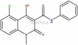 N-Phenyl-5-chloro-1,2-dihydro-4-hydroxy-1-methyl-2-oxo-quinoline-3-carboxamide