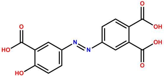 (E)-4-((3-carboxy-4-hydroxyphenyl) diazenyl) phthalic acid